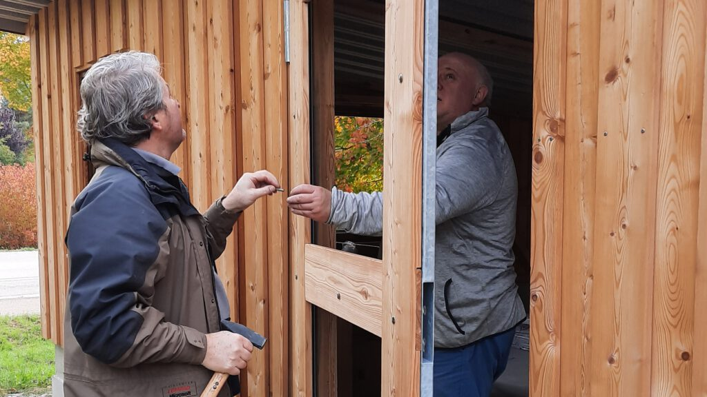 21. Oktober - Die Türen werden gezimmert